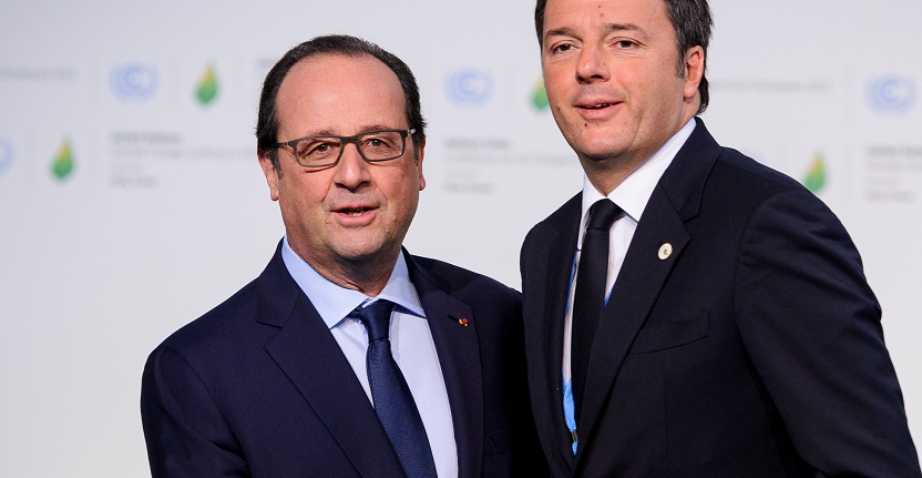renzi e hollande
